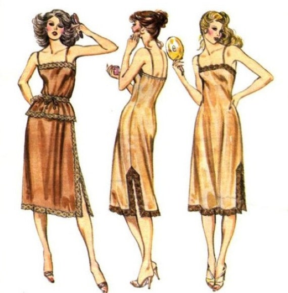 Vintage LINGERIE Sewing Pattern Misses Half Slip Full Slips