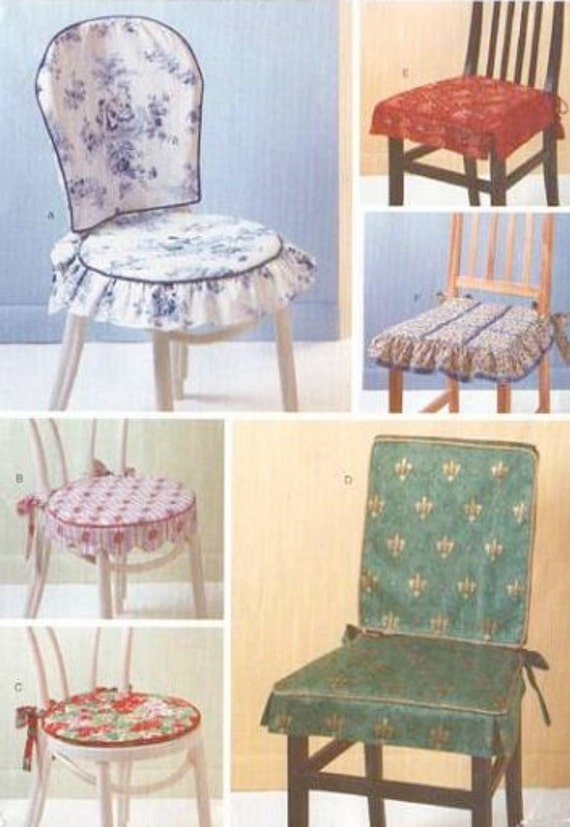CHAIR Covers Pads Sewing Pattern Dining Room By Patterns4you