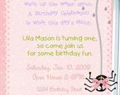ITSY BITSY SPIDER Boy or Girl Birthday Invitation -- 5x7 Digital File -- Print It Yourself