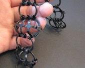 Oxidized Copper Cage Bracelet - Armor Jewelry - Rich Black - copper jewelry