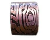 Wood Grain Cuff - etched in copper - Faux Bois pattern  - handmade copper jewelry - made in my studio- made in Austin, Tx