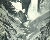 1940s Vintage Photography - Yellowstone National Park - Wonderful 40s Vintage Book Art Photograph Great Vintage Print for Cottage or Cabin