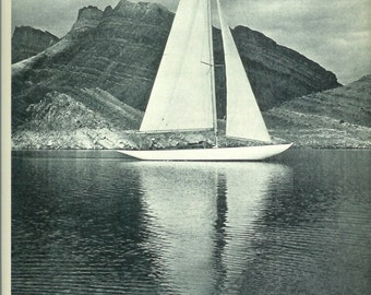 1940s Vintage Photograph - Lake Mead - Wonderful 40s Vintage Book Art Photograph Great Vintage Print for Cottage or Cabin