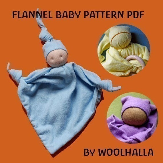 Flannel Baby  A First Doll Pattern PDF