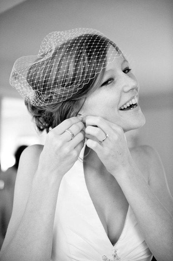 Bandeau Wedding Veil-- Seen on Style Me Pretty Blog