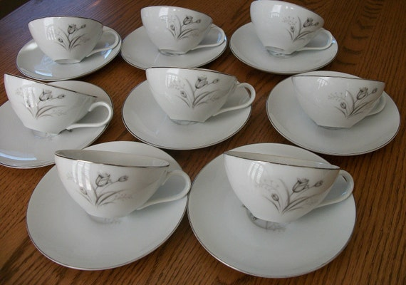 Cup and Saucers Vintage China 1960