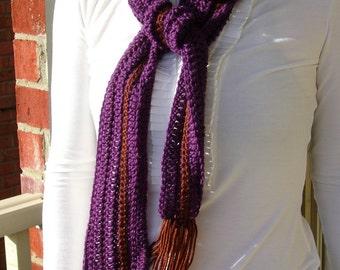 Eco-friendly purple/brown scarf