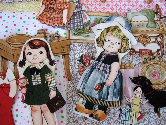 Fabric Paper Dolls Furniture And Clothes Travel