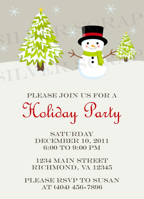 free clipart christmas invitation - photo #17