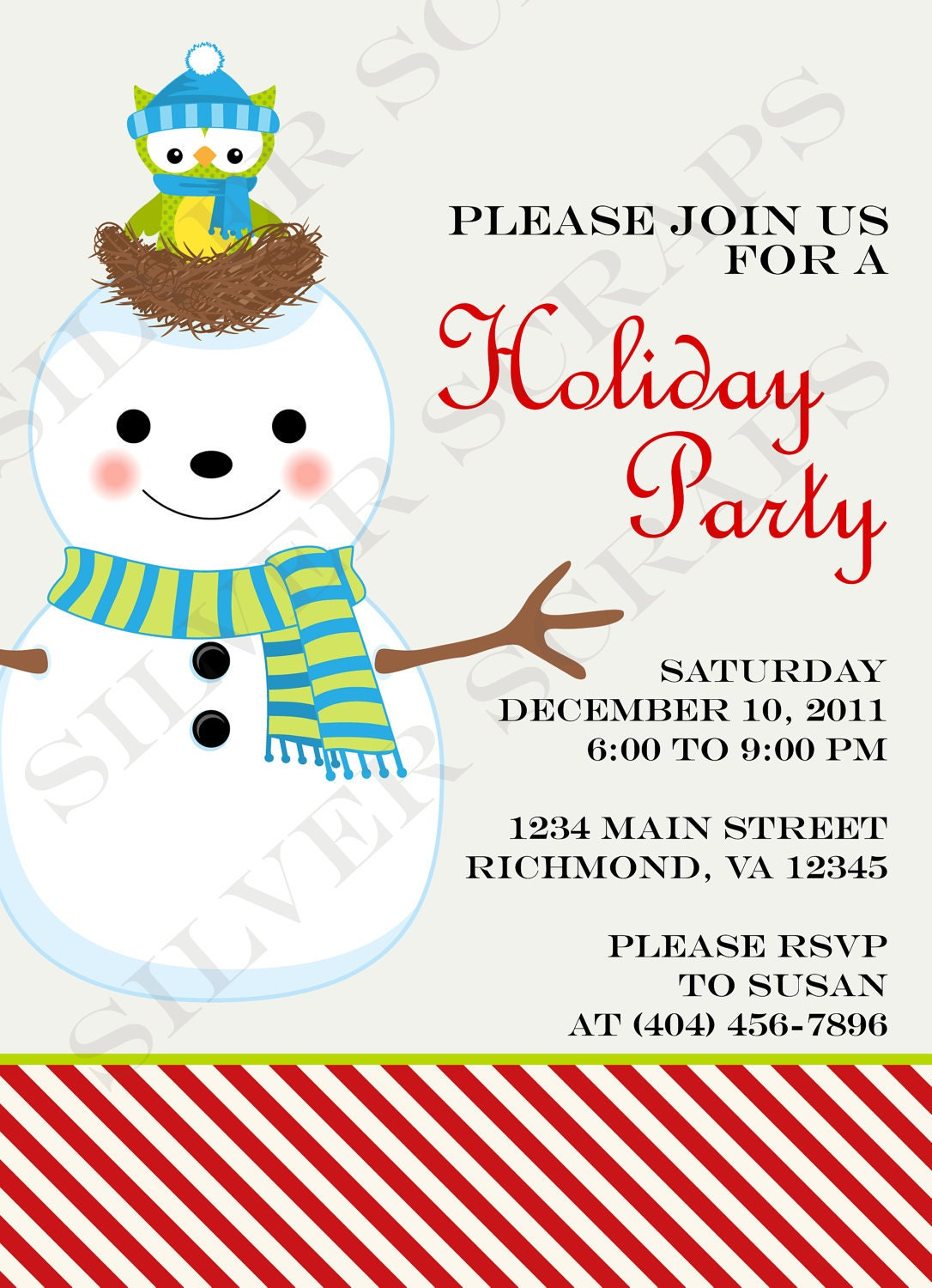 Ugly Sweater Party Invitation Template for amazing invitations sample
