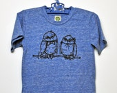 Fancy Owls Toddler Tee (eco royal)