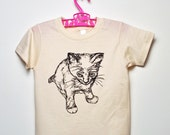 Organic Kitty Toddler Tee-Natural (2T)