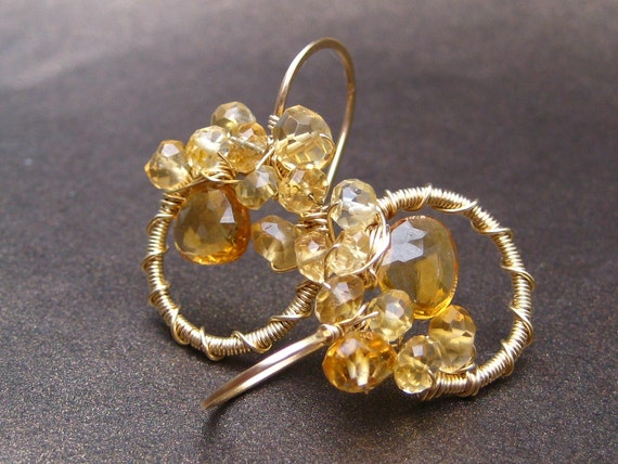Leto - citrine earrings