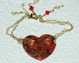 Shimmering Heart  bracelet