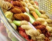 Honeycomb -  Mini Skeins Fingering Sock Yarn Kit - Mini Mania  (10)