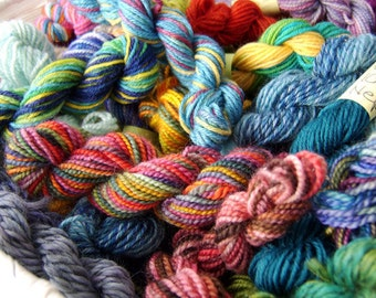 Retina Burn Skittles Rainbow - Mini Skeins Fingering Sock Yarn Kit Set - Mini Mania (12)
