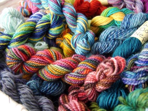 Retina Burn Skittles Rainbow - Mini Skeins Fingering Sock Yarn Kit Set - Mini Mania (10)