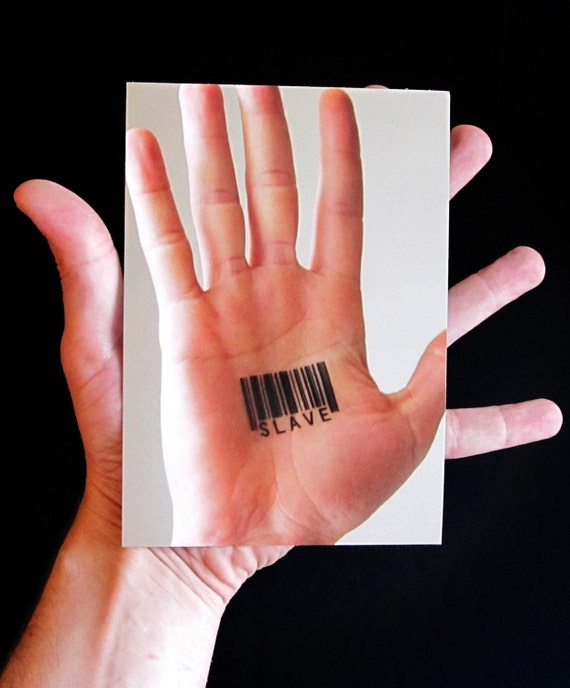 Barcode Tattoo Postcard