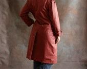 Brick Red Raincoat, Vintage, size L/XL