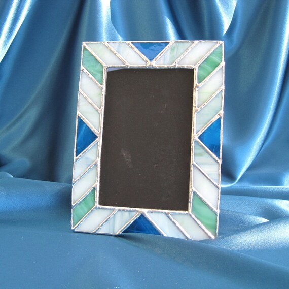 Earth and Sky 4 x 6 Stained Glass Picture Frame