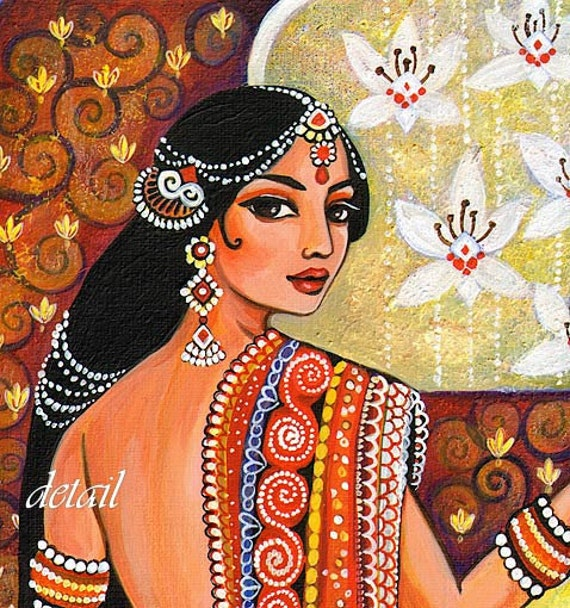 Hindu Poster Art: Indian Art Goddess Art Traditional Indian Painting By