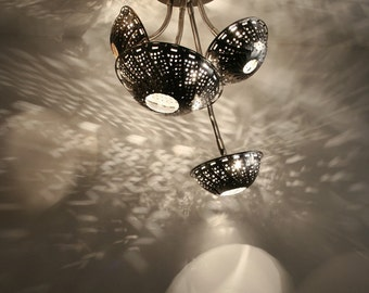 Ceiling Lighting: Steam Light Quartet - Steampunk lamp, Chandelier.