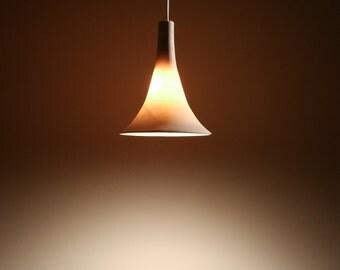 "Gramophone Pendant Light:  - 6"" Translucent Porcelain - LED"