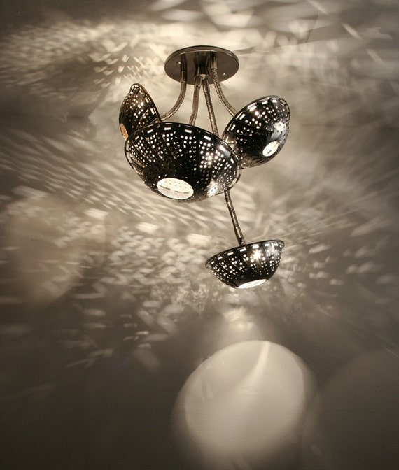 Ceiling Lighting: Steam Light Quartet - Steampunk lamp, Chandelier.