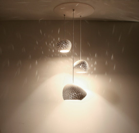 Clay Light Cluster: Three Pendant Chandelier ceiling lighting - LED - On Sale 15%