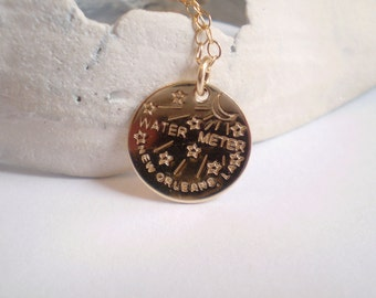 New Orleans Water Meter Necklace, New Orleans Necklace, NOLA Jewelry