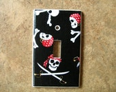 Pirate Skull Switchplate Light Switch Plate Outlet Cover / Use Drop Down Menu to Select Style (STANDARD SIZE)