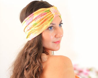 Floral Print Headband - Summer Fashion Turban