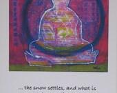 Snow Globe Buddha - Holiday Greeting Cards 6 pak