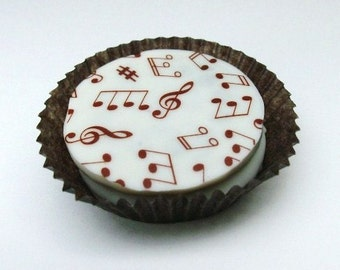 Designer Chocolate Covered Oreo Cookies -WHITE Music Notes