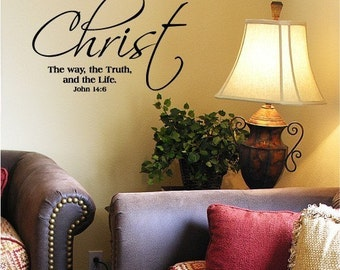 Christ The Way The Truth And The Life vinyl lettering wall sayings home decor quote decal sticker art