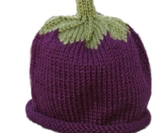 Eggplant Hat - Baby to Adult
