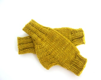 Knit Fingerless Gloves- Wool Gloves- Gloves for Women- Winter Gloves- Knit Gloves - Wool Mittens- Fall Fashion- Fall Accessories- Knit