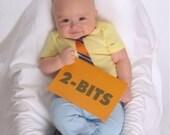 12 Months Onesie- Mr. Two-Bits Florida Gators Football Applique Tie ONESIE BODYSUIT for Baby Boy --SIZE 12 Months