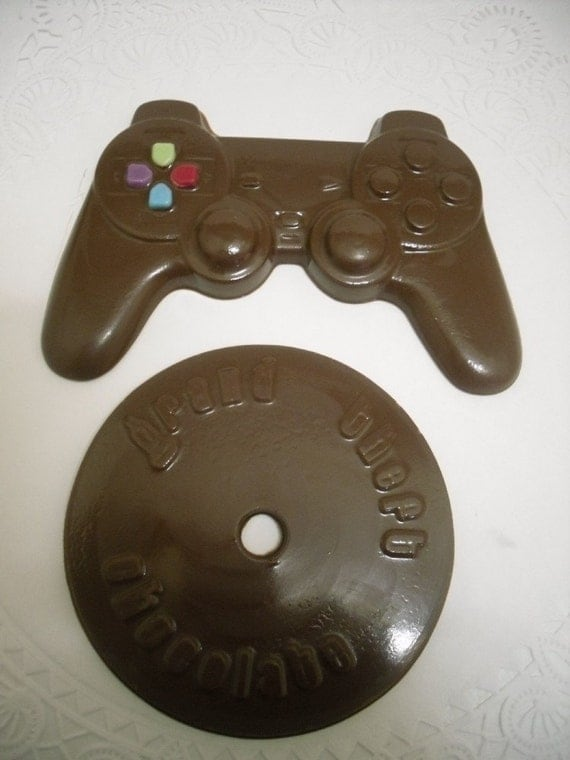 Grand Theft Chocolate CD and video game controller PS2 style