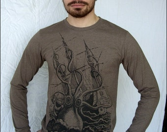 CLEARANCE SALE--Mens Kraken 50/50 Heather Longsleeve