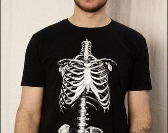 Clearance-- Mens Skeleton Torso tee