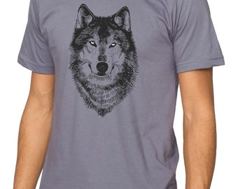 Wolf Shirt, Men's Wolf Shirt Men's Clothing, Wolf t-shirt winter wolves dog spirit animal t-shirt, werewolf teen wolf shirt, woodland design