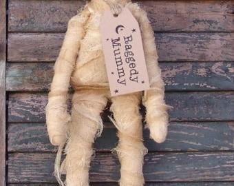 Primitive Halloween Mummy Doll Pattern, Raggedy Mummy Doll pattern, zombie pattern, HFTH142