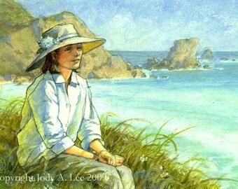 Summer Beachscape Original Oil Painting