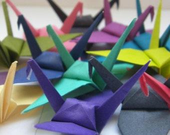 100 Rainbow Multicolor Origami Paper Cranes