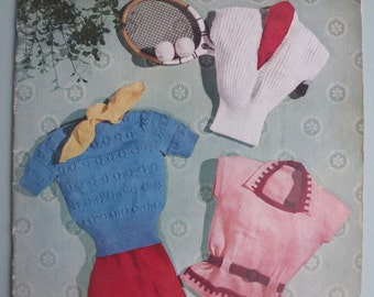 Stitchcraft May 1951 - Vintage 1950s Knitting Sewing Embroidery Magazine - original patterns 50s women's sweaters jumpers cardigan