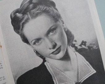 Vintage Crochet Patterns 1940s - ABC of Crochet Bestway Crochet Series No. 112 UK - 40s original patterns women's accessories collar etc