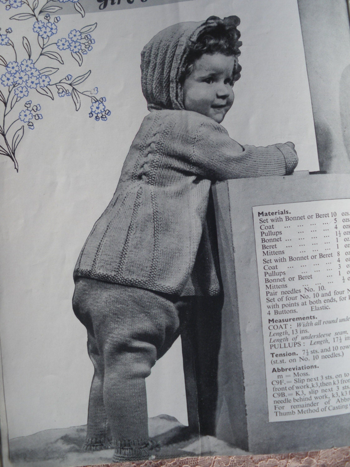 Vintage Knitting Patterns 1940s Baby Clothes / Layette