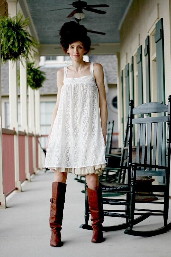 Lace Tunic, Summer Dress, Lace Dress, White Tunic, Tunic Dress, Lace Tunic, Mini Dress