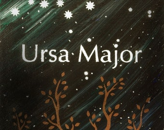 Ursa Major - Big Dipper Constellation Postcard Print
